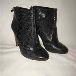 7 For All Mankind Womens 7.5 Wooden Heel Boots